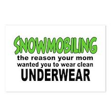 Snowmobiling - Clean Underwear Postcards (Package