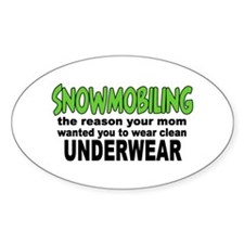 Snowmobiling - Clean Underwear Oval Decal