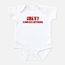 Obey the Finnish Lapphund Infant Bodysuit