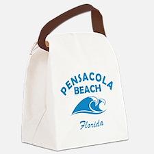 Florida - Pensacola Beach Canvas Lunch Bag