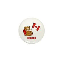 Canada Teddy Bear Mini Button (100 pack)