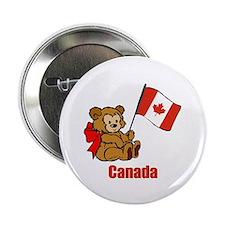 "Canada Teddy Bear 2.25"" Button (10 pack)"
