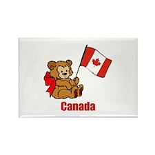Canada Teddy Bear Rectangle Magnet