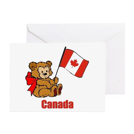 Canada Teddy Bear Greeting Cards Pk Of 10 By Nitsupak