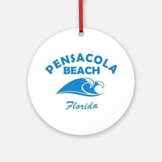 Florida - Pensacola Beach Round Ornament