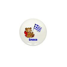 Greece Teddy Bear Mini Button (100 pack)