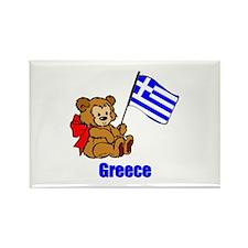 Greece Teddy Bear Rectangle Magnet