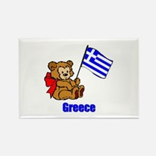 Greece Teddy Bear Rectangle Magnet