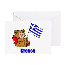 Greece Teddy Bear Greeting Card