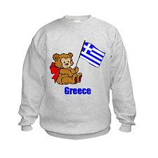 Greece Teddy Bear Sweatshirt