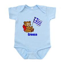 Greece Teddy Bear Infant Bodysuit
