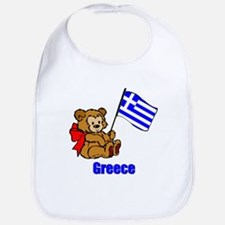 Greece Teddy Bear Bib