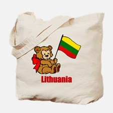 Lithuania Teddy Bear Tote Bag