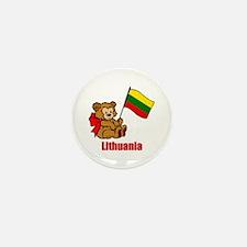 Lithuania Teddy Bear Mini Button (100 pack)
