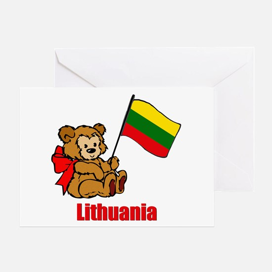 Lithuania Teddy Bear Greeting Card