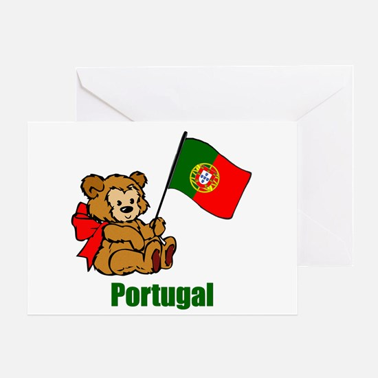 Portugal Teddy Bear Greeting Card