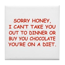 Stupid Diet Tile Coaster