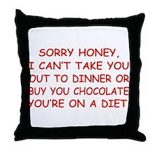 Stupid Diet Throw Pillow