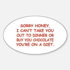 Stupid Diet Oval Decal