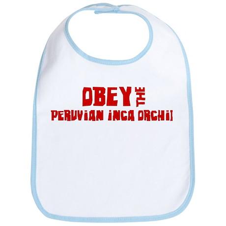 Obey the Peruvian Inca Orchid Bib