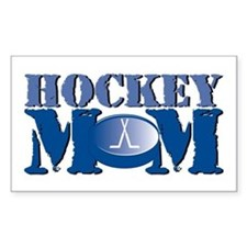 Hockey Mom Rectangle Decal