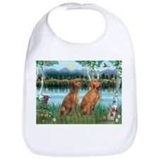 Birches / Vizsla pair Bib