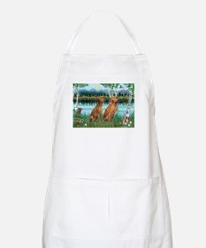 Birches / Vizsla pair BBQ Apron