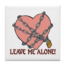 Anti Valentine's Tile Coaster