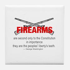 Anti Gun Control Tile Coaster