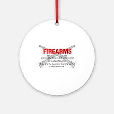 Anti Gun Control Ornament (Round)