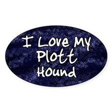Funky Love Plott Hound Oval Decal