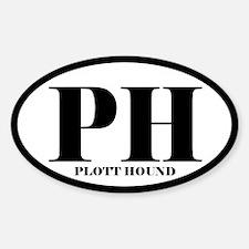 PH Abbreviation Plott Hound Decal