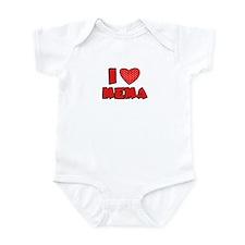 I heart MeMa  Infant Bodysuit