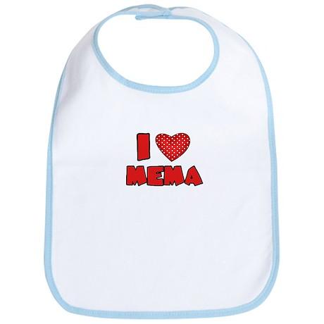 I heart MeMa Bib