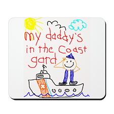 Coast Guard Daddy Mousepad