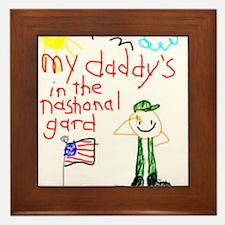National Guard Daddy Framed Tile