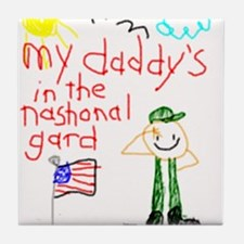 National Guard Daddy Tile Coaster