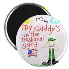 """National Guard Daddy 2.25"""" Magnet (100 pack)"""