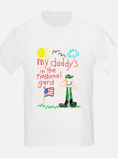 National Guard Daddy Kids T-Shirt