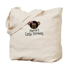 Meme's Little Monkey GIRL Tote Bag