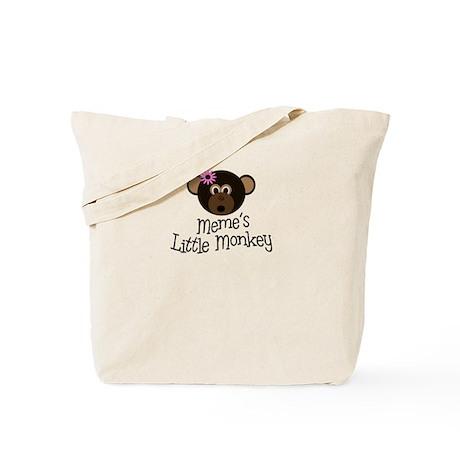 Meme's Little Monkey GIRL Tote Bag