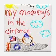 Airforce Mommy! Tile Coaster