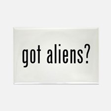 got aliens? Rectangle Magnet