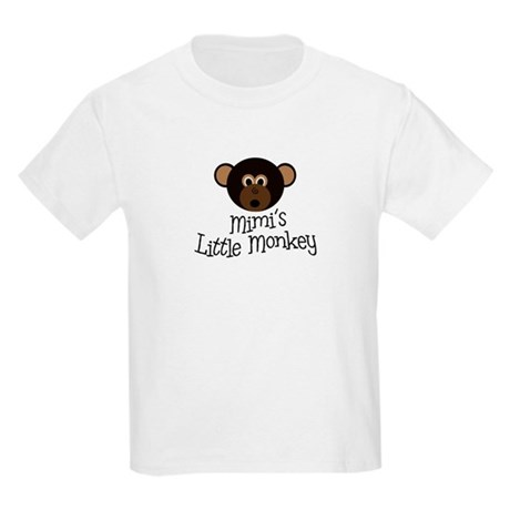 Mimi's Little Monkey BOY Kids Light T-Shirt