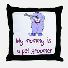 Pet Groomer Throw Pillow