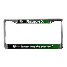 Region X License Plate