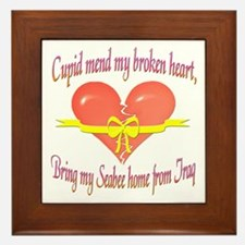 Broken Heart Seabee Framed Tile