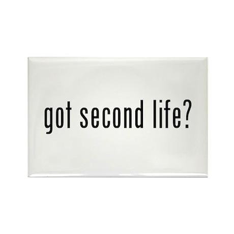 got second life? Rectangle Magnet