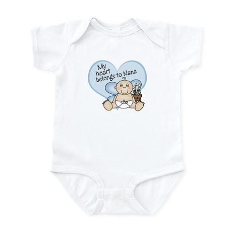 My Heart Belongs to Nana BOY Infant Bodysuit