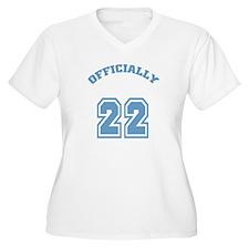 Officially 22 Women's Plus Size V-Neck T-Shirt